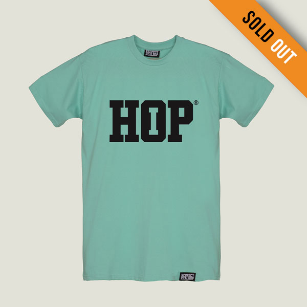 The HipHop logo T-shirt [Turquoise] (ELFOGYOTT)