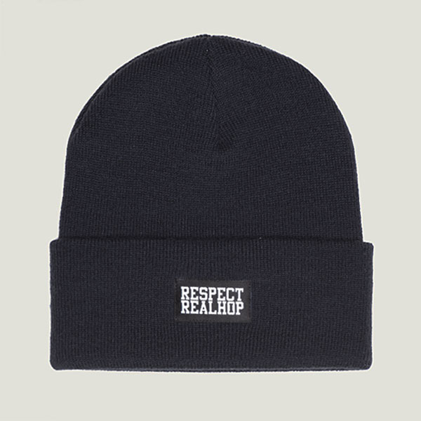 Classic Beanie Solid logo: Navy