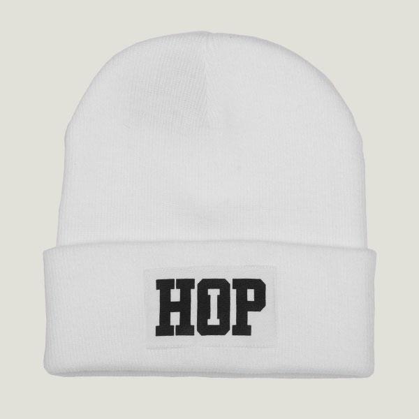 Classic Beanie HipHop logo: White