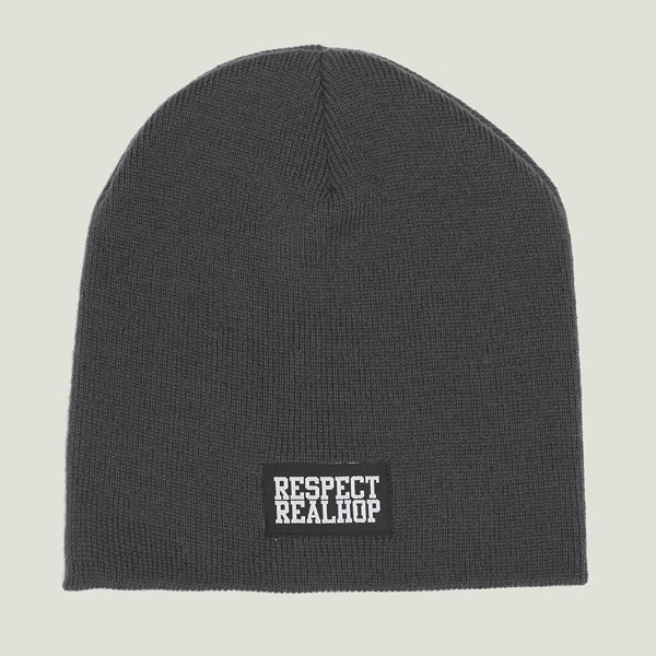 Pull On Beanie Solid logo: Graphit Grey