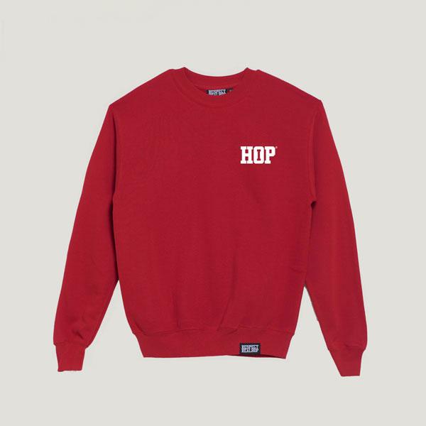 Solid HipHop logo Crewneck [Red / White]