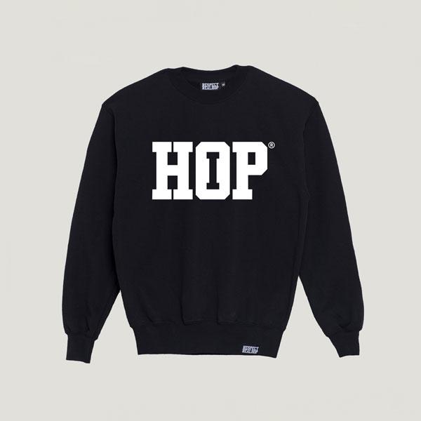 The HipHop logo Crewneck [Black / White]