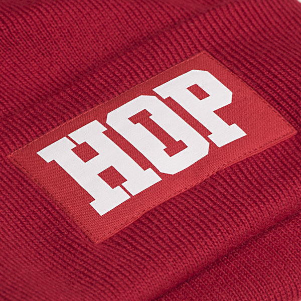 Classic Beanie HipHop logo: Red (ELFOGYOTT)