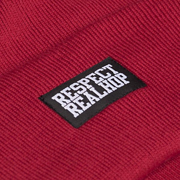 Classic Beanie Solid logo: Red (ELFOGYOTT)