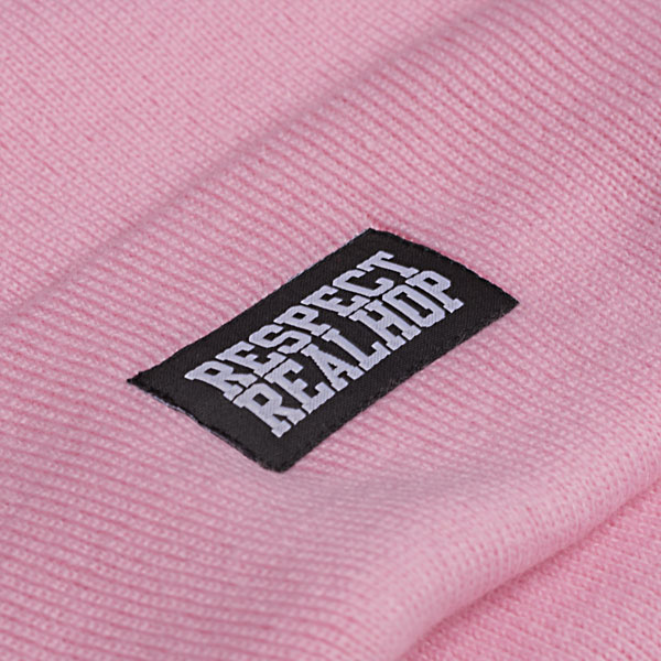 Classic Beanie Solid logo: Pink (ELFOGYOTT)