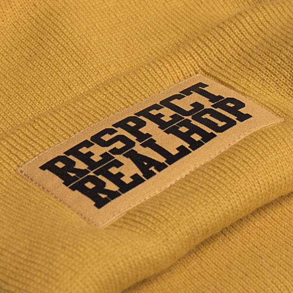 Classic Beanie The Movement logo: Ocher