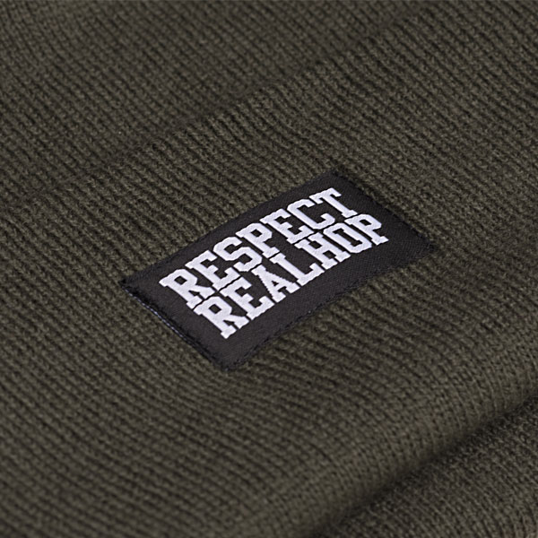 Classic Beanie Solid logo: Olive