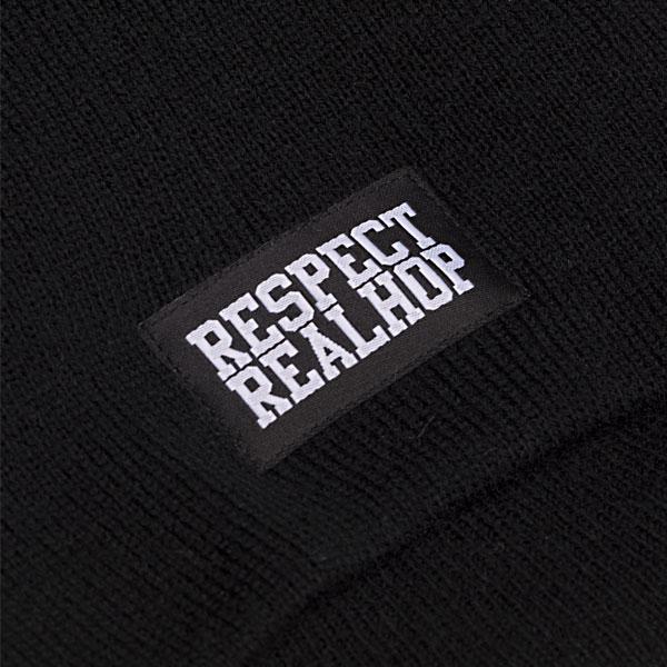 Pull On Beanie Solid logo: Black