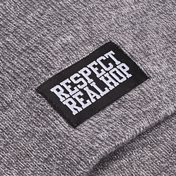 Pull On Beanie Solid logo: Heather