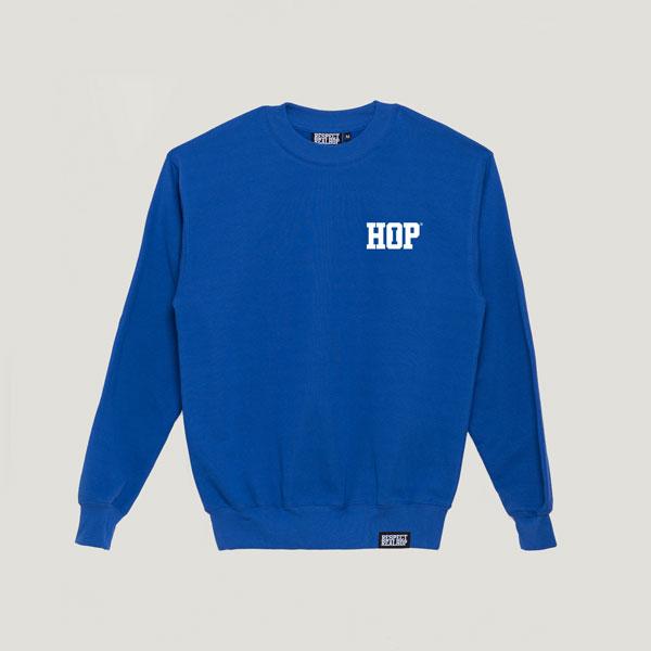 Solid HipHop logo Crewneck [Skyblue / White]