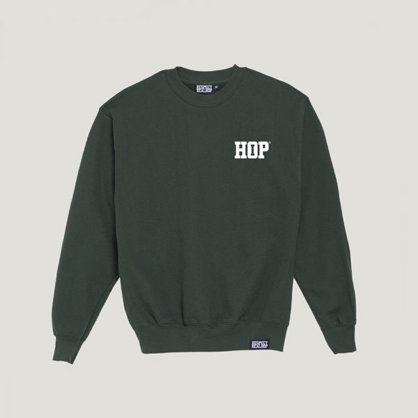 Solid HipHop logo Crewneck [Kush Green / White]