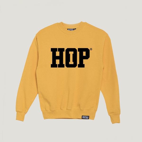 The HipHop logo Crewneck [SunnYellow / Black]