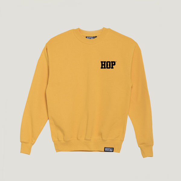 Solid HipHop logo Crewneck [SunnYellow / Black]