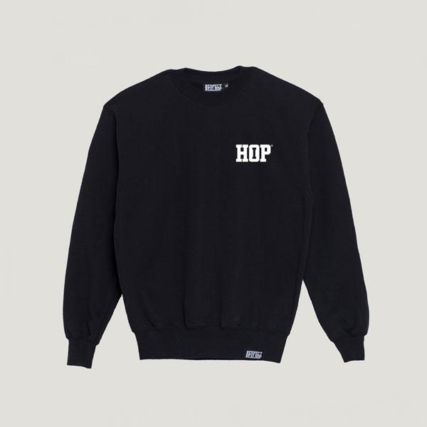 Solid HipHop logo Crewneck [Black / White]