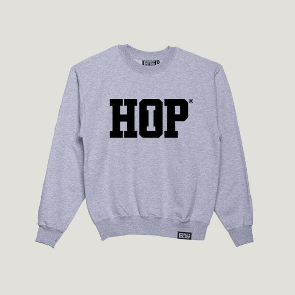 The HipHop logo Crewneck [Heather / Black]