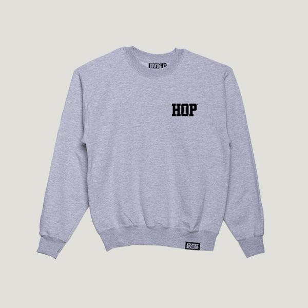 Solid HipHop logo Crewneck [Heather / Black]
